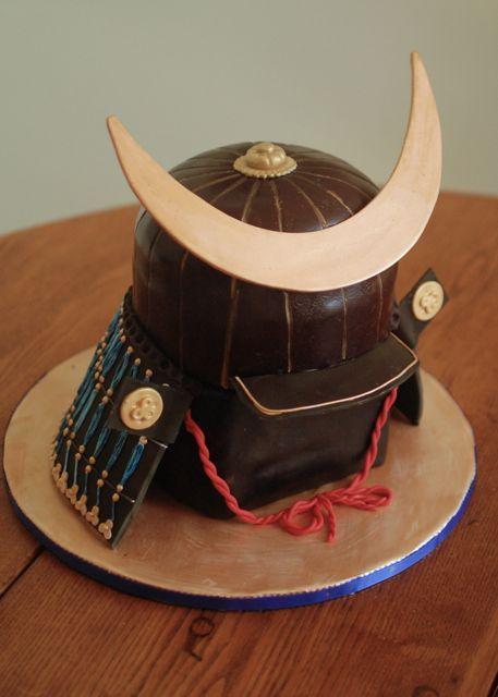 Samurai Helmet Cake Party Idea And Little Something