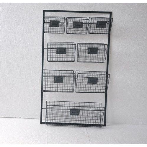 Cheungs Metal Wall Organizer With 8 Slots Wall Organization
