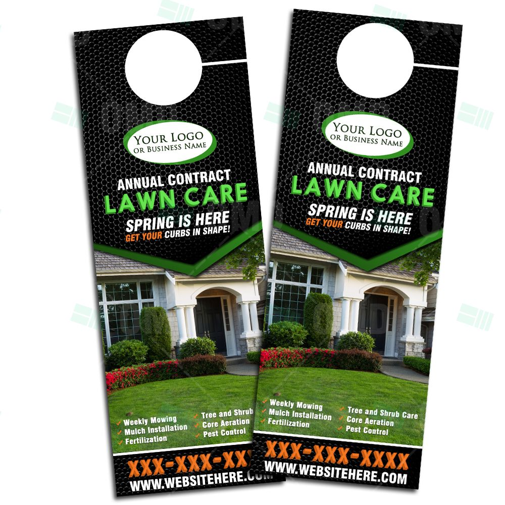 Lawn Care Door Hanger Design 6 Lawn Care Lawn Care Business