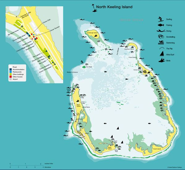 Map of Cocos island Indian Ocean Map design Pinterest Cocos