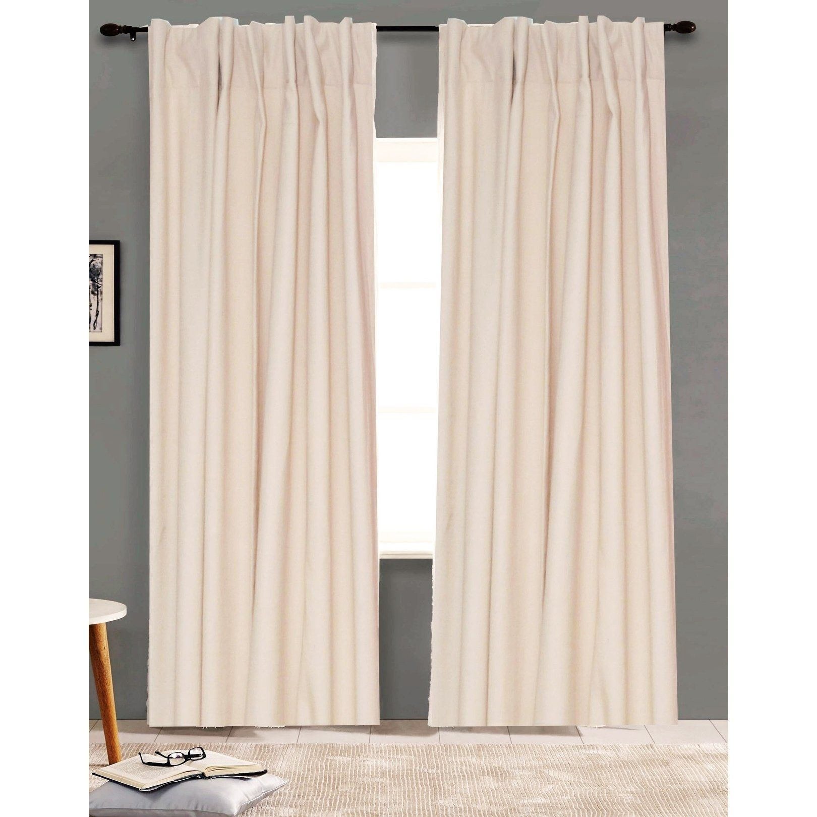 American Colors Brand Heritage Cotton Solid Curtain Panels