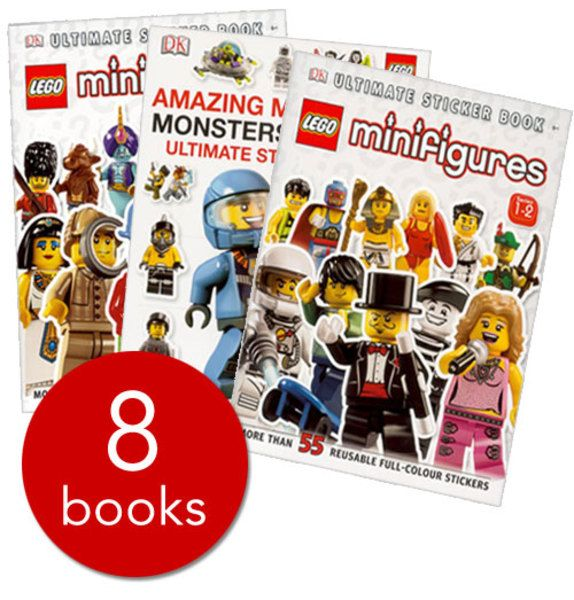 LEGO+Minifigure+Sticker+Collection+-+8+Books(Paperback ...
