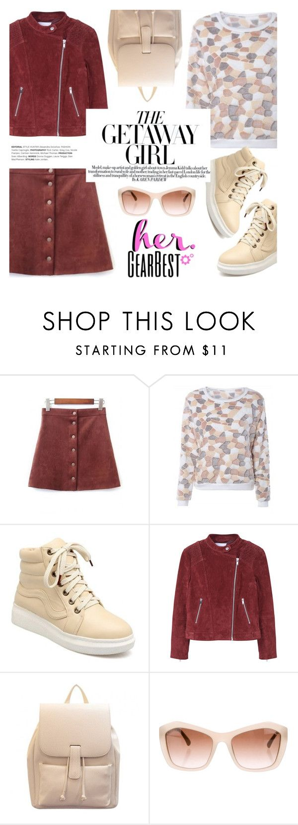 """The getaway girl"" by helenevlacho ❤ liked on Polyvore featuring MANGO, Chanel and hergearbest"