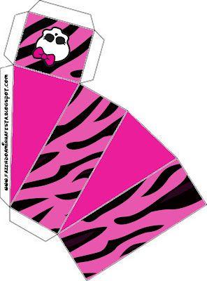 Monster High: cajas para imprimir gratis.