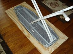 How To Make Ironing Board Extension For Larger Surface For Quilters