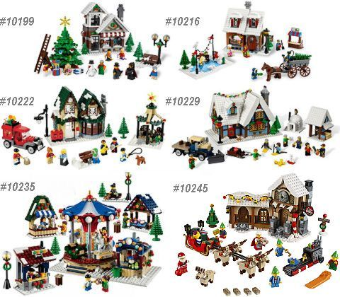 lego christmas village sets