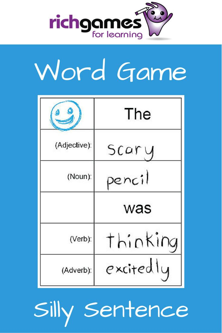 Worksheet Adverb Games For Kids words word games and silly sentences on pinterest