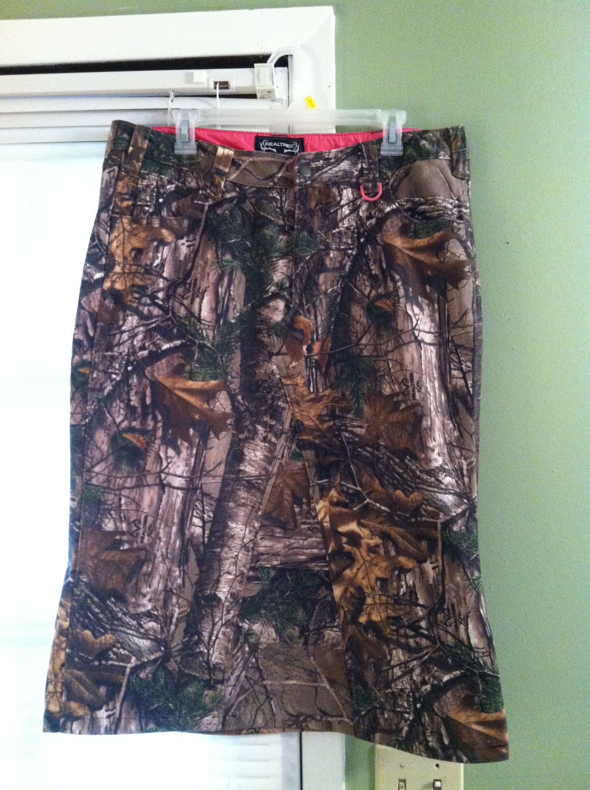 f147ccb24c Who said Apostolic women can't hunt in camo? These pants sewed up into a  really cute hunting skirt!
