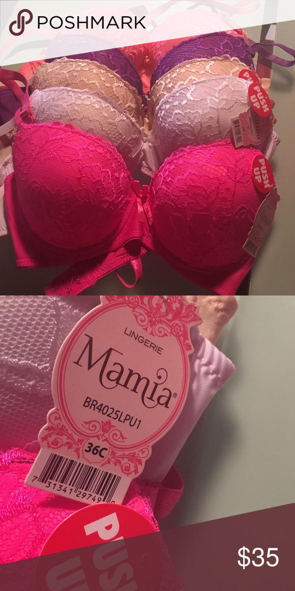 CLEARANCE 36C set of 5 bras. NWT NWT 36C  push up bras - set of 5 for $ 35 Intimates & Sleepwear Bras