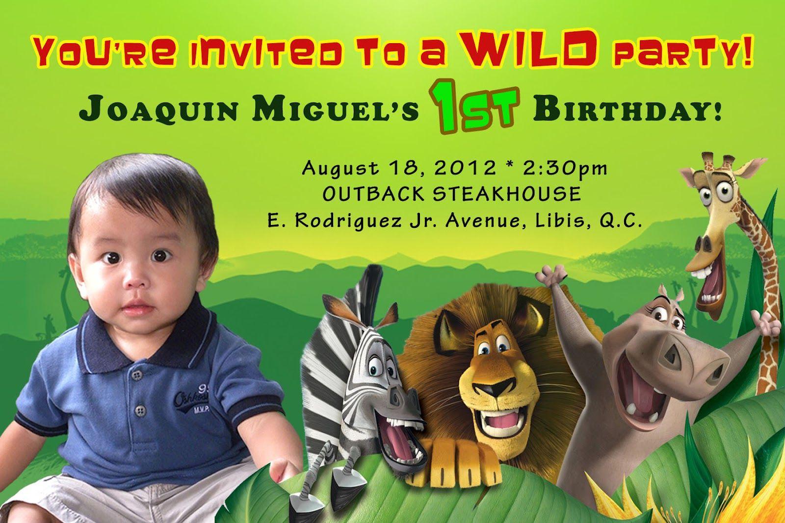 madagascar birthday party   Madagascar Birthday Party   Pinterest ...