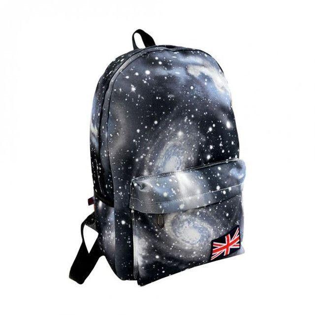 090e431eb496 Fashion School Bags For Teenagers Girls Stars Sky Universe Space Printing  Backpack School Book Bagpack Canvas Women Bag Mochila