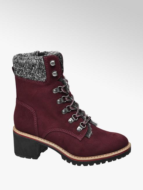 Damen Schnurstiefeletten Gefuttert Von Highland Creek In Bordeaux Deichmann Com Lace Up Ankle Boots Ankle Boots Shoes