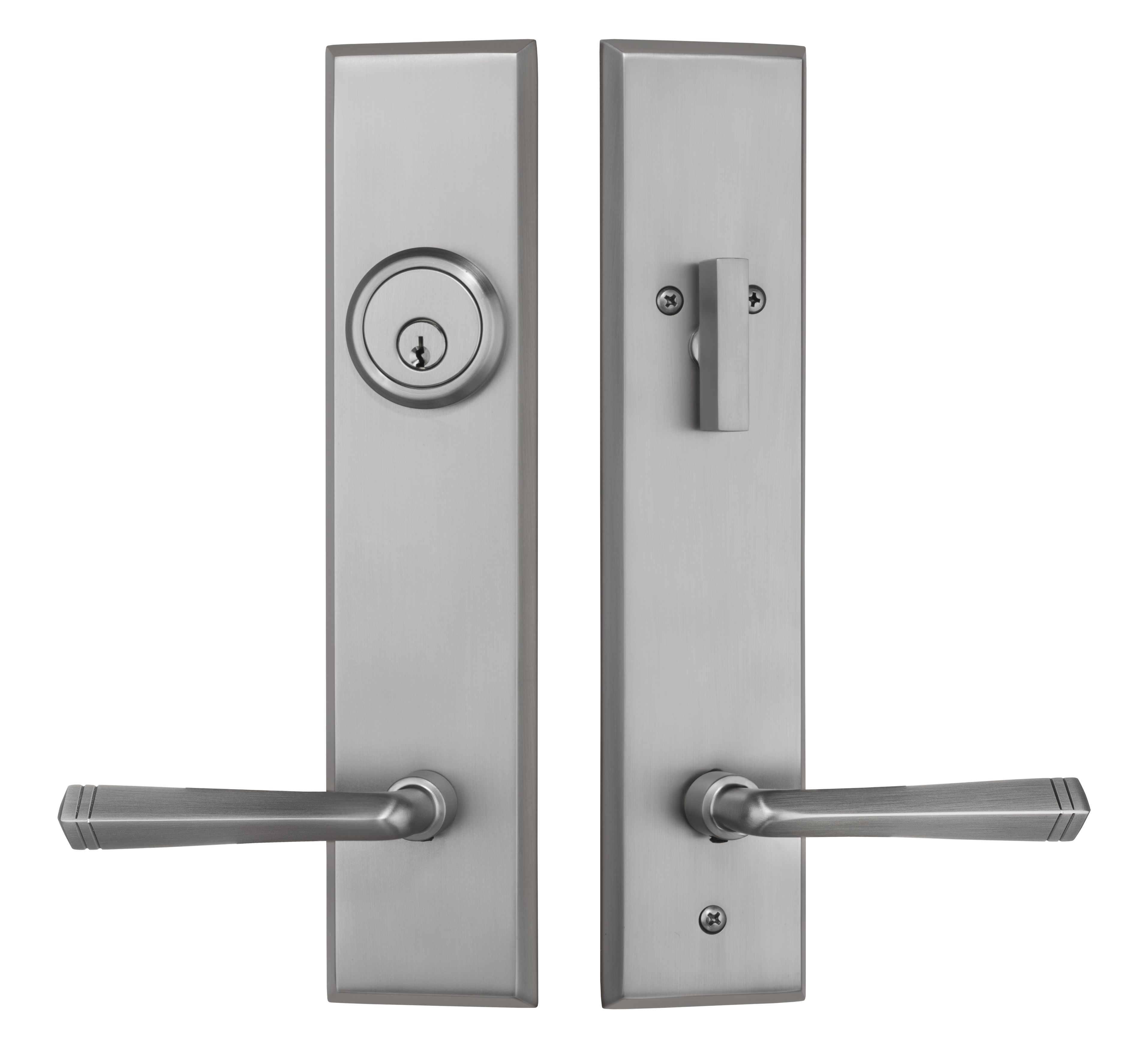 front door hardware brushed nickel. Rockwell Verano Entry Door Lock Handleset With Quattro Lever In Brushed Nickel Finish Front Hardware L