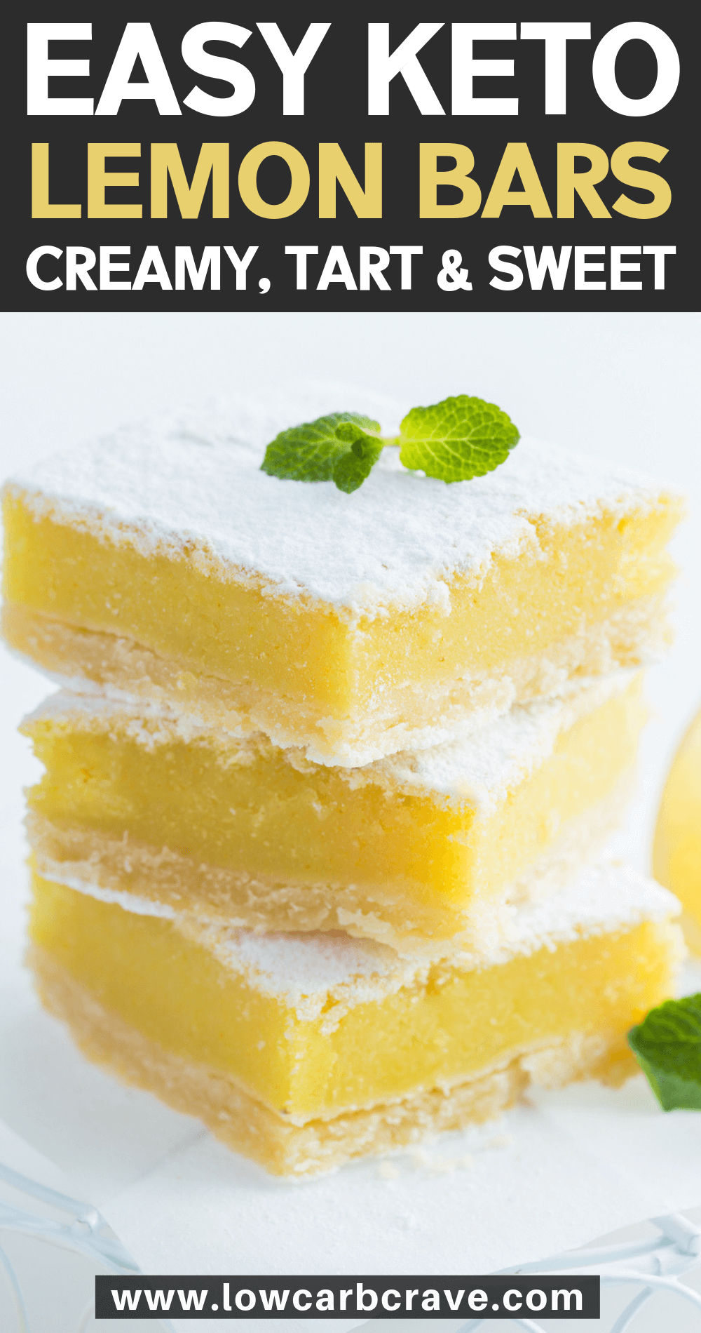 Insanely Good Keto Lemon Bars (Sugar-Free & Gluten