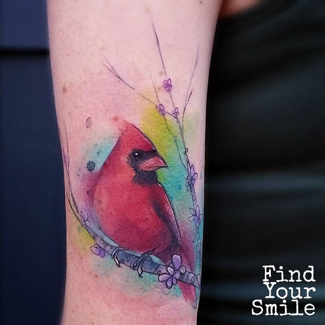 Cardinal Watercolor Tattoo Tattoos Cardinal Tattoos Cardnial