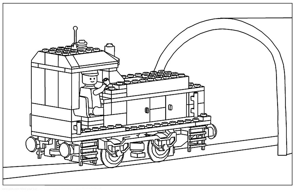 lego coloring pages train Lego coloring pages, Lego