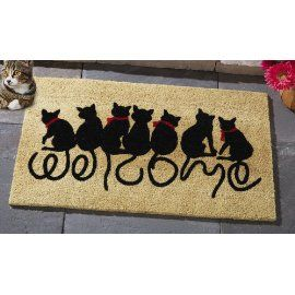 Cat  sc 1 st  Pinterest & Cute Cat Doormat and Rugs. What better way to welcome | Great Ideas ...