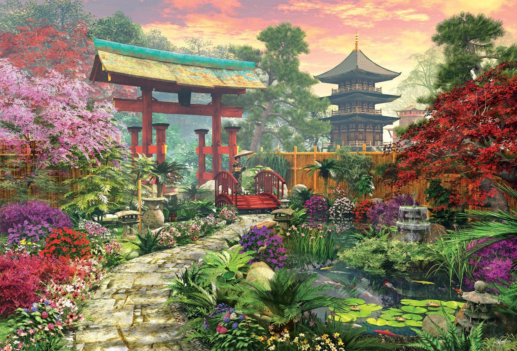 Japanese Garden Jigsaw by Dominic Davison (EDU16019, 3000 ...