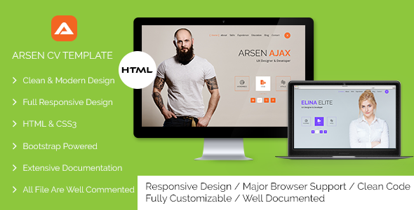 Arsen  CvResume  Html Template  HttpThemekeeperComItem