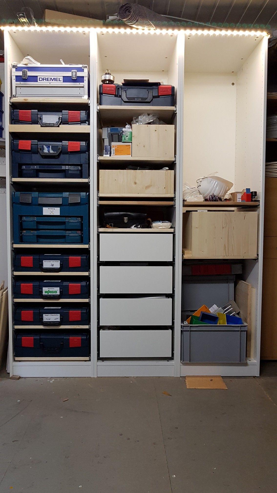 L Boxx Schrank In Der Werkstatt Led Beleuchtung Led Beleuchtung Werkstattorganisation Werkstatt