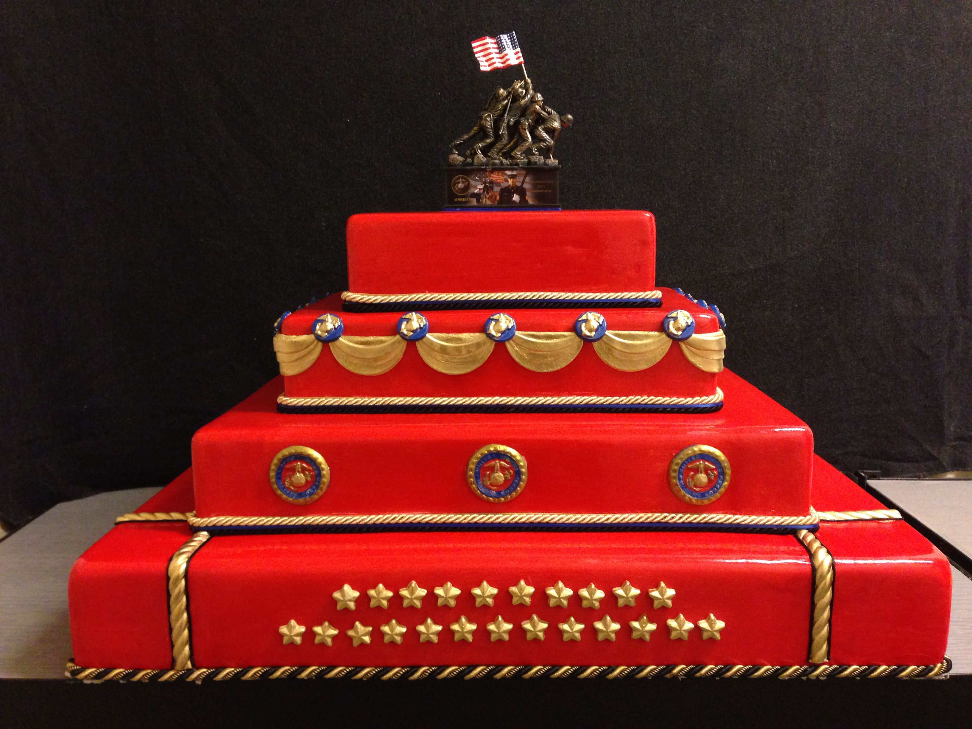 Super Marine Corp Birthday Cake By Yumacakes Com Marine Corps Birthday Cards Printable Trancafe Filternl