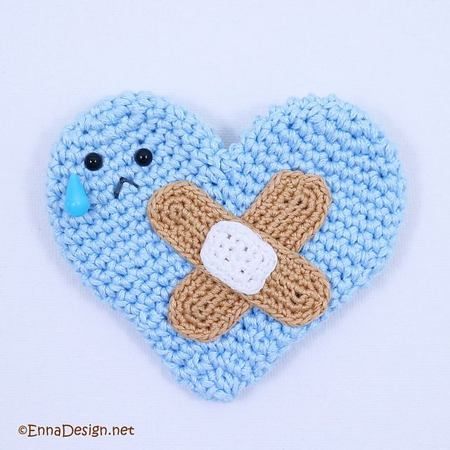 Heal The Heart Pin by Enna Design | knit & crochet ❥ zakka | Pinterest