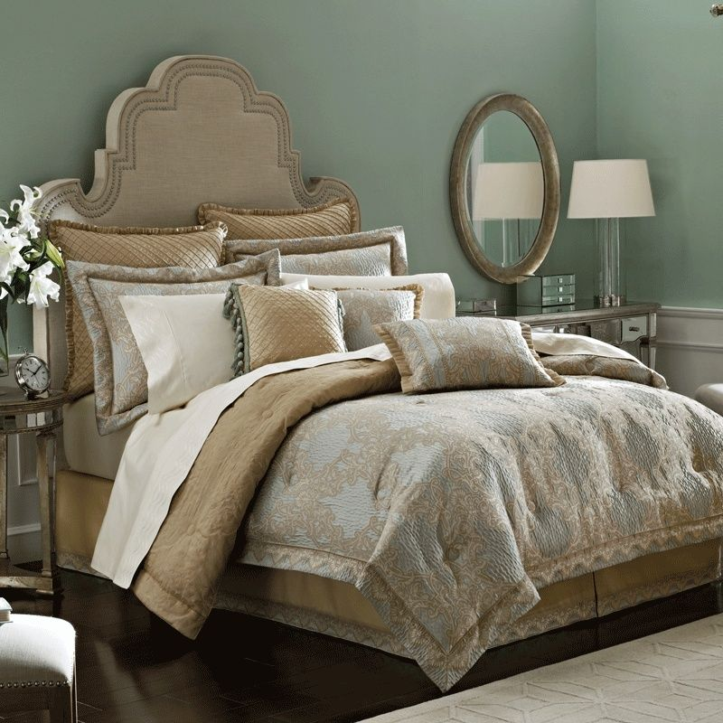 Croscill Opal king bed comforters set with many cushion King Beds