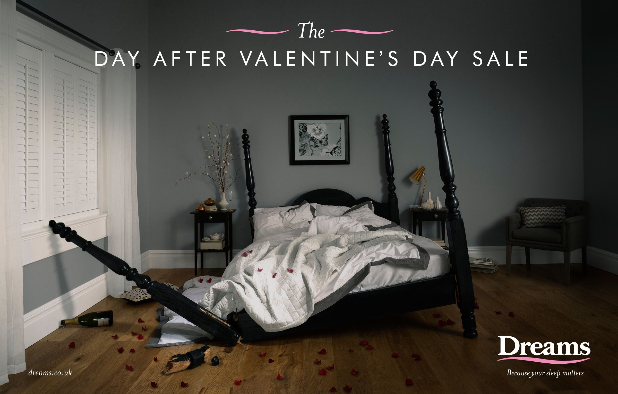 The day after Valentine's day Sale. Advertising Agency: Cheetham Bell, Manchester, UK Creative Directors: Andy Huntingdon, Martin Smith Art Direc