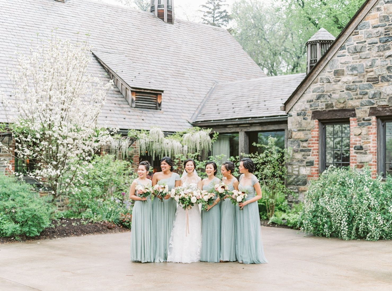 We had been looking forward to Katherine + David's wedding all year! These two are absolutely adorable together, so kind and generous with their friends and family, and have killer style! (Just look at Katherine's stunning delicate lace illusion gown and David's sharp tailored blue tux!) Blue Hill at Stone Barns was such a breathtaking…