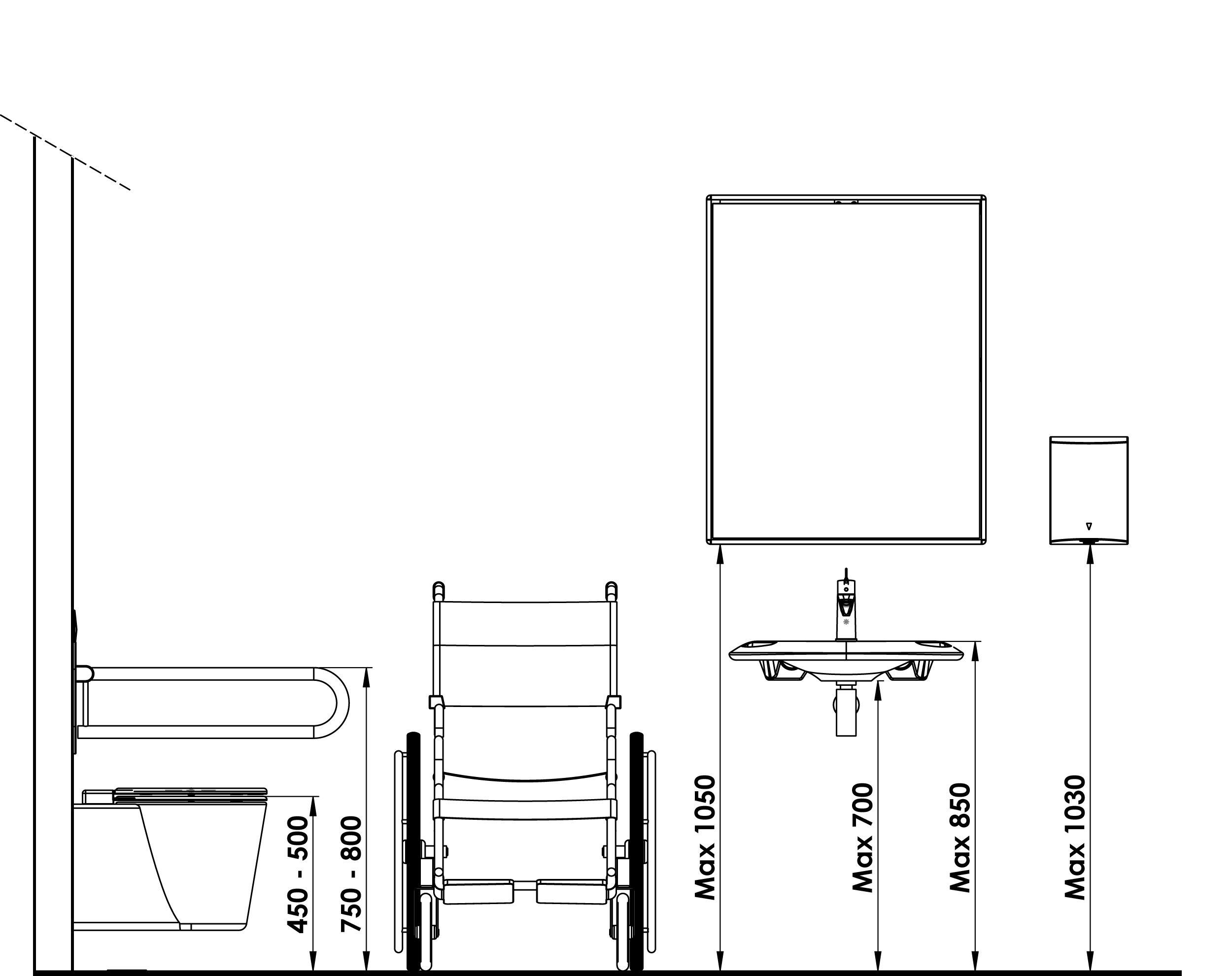 Rappel Normes PMR NF P 16-16_Coupe  Salle de bain pmr, Salle de