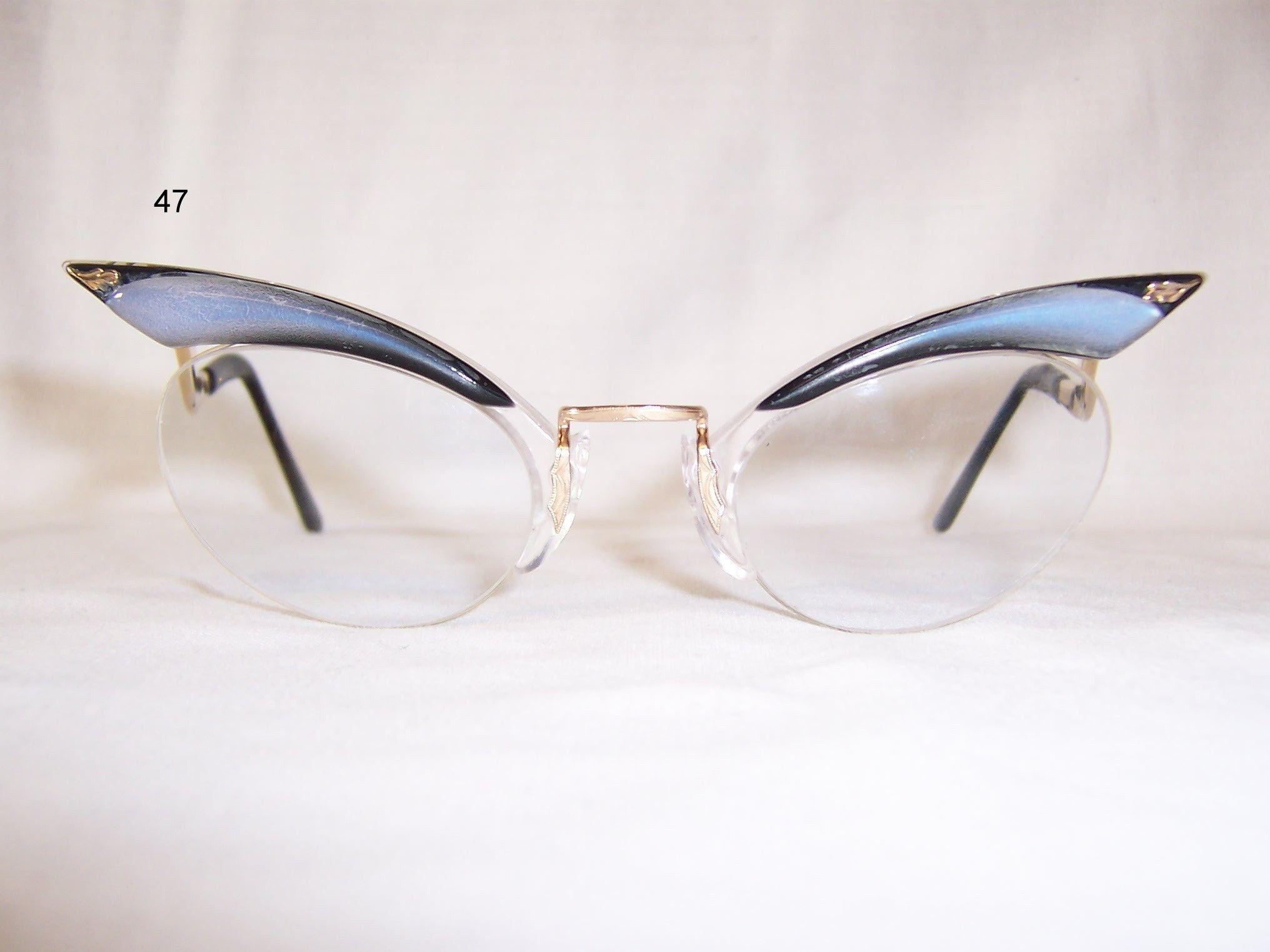 a3f2e90cfb Classic 1950 60 s Brow line combination Spectacles - Vintage Glasses - Dead  Men s Spex