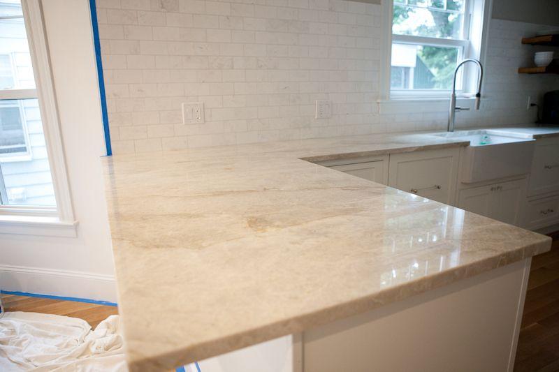 Taj Mahal Quartzite Counter Top Woodacres Traditional Kitchen
