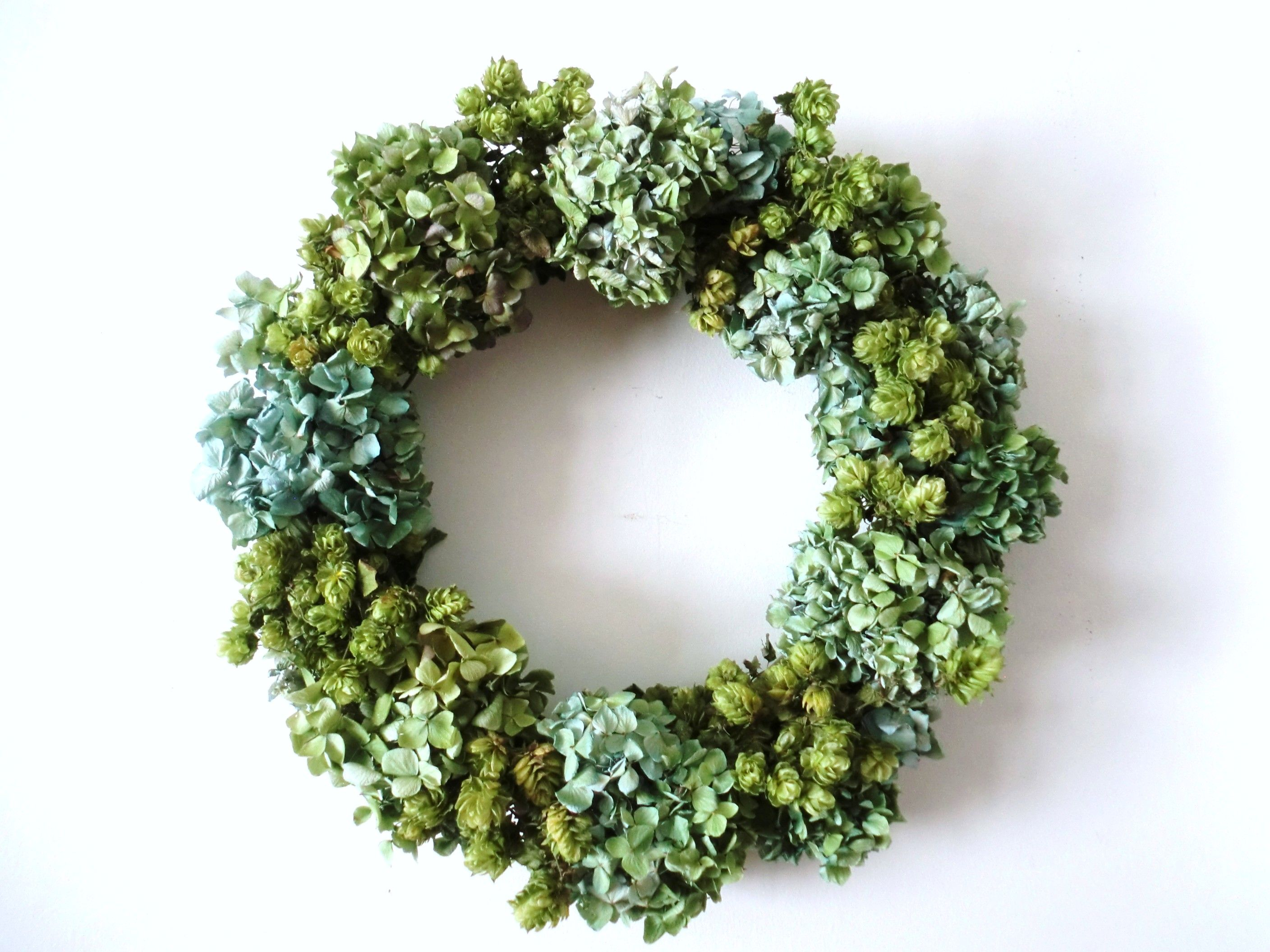 Faux wreaths 100 images how to make a boxwood wreath for Artificial hops decoration