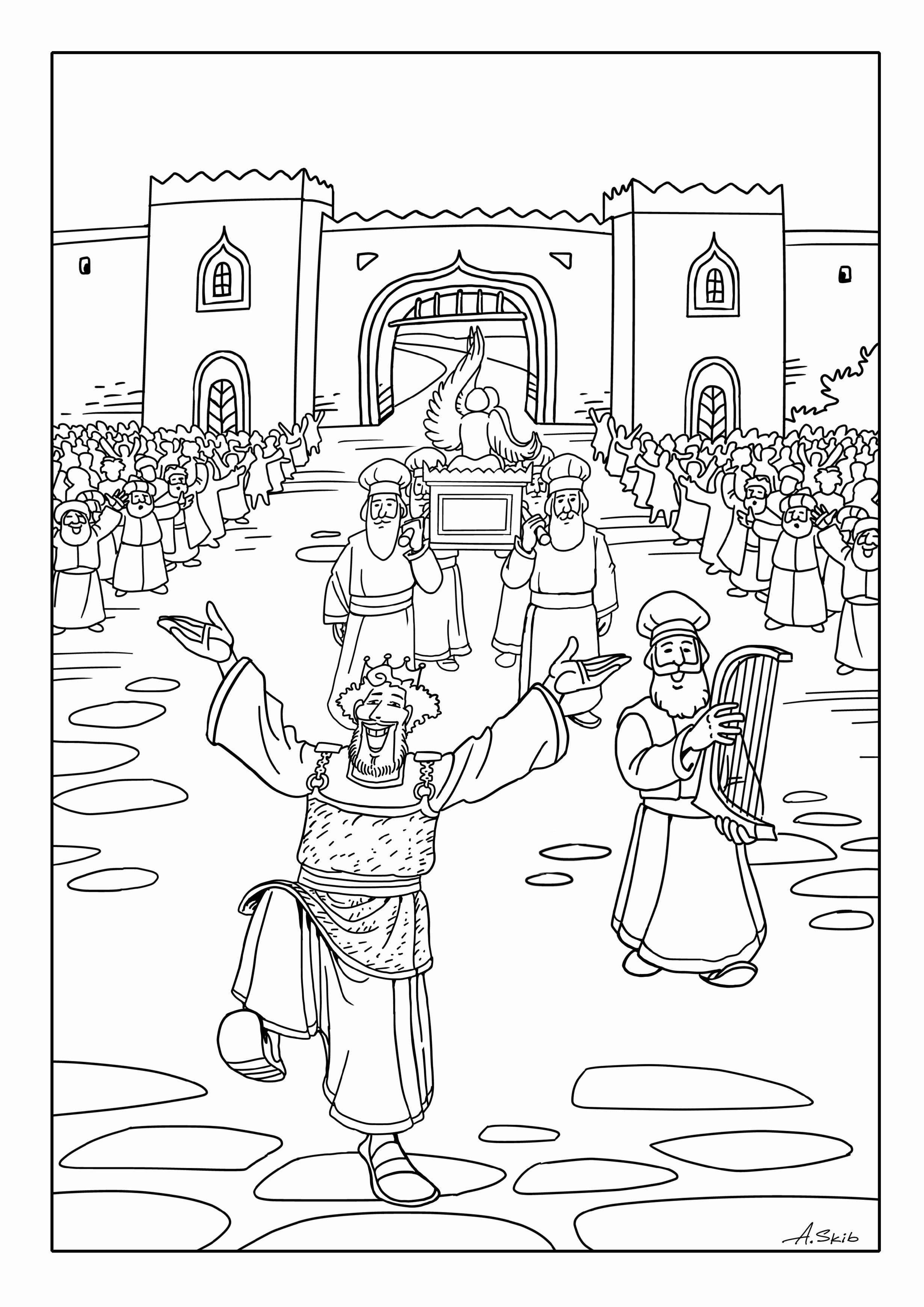 Ark Of the Covenant Coloring Page Luxury David Brings the