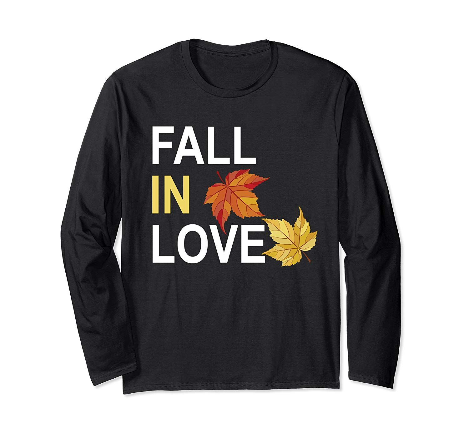 Fall in Love Shirt,Hello Autumn Leaves and Pumpkin Please Long Sleeve T-Shirt #helloautumn