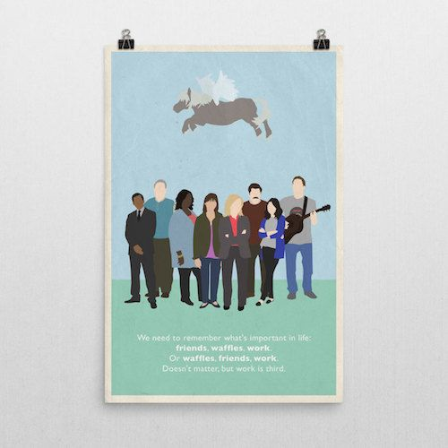 Friendship poster inspired by Parks and Recreations, parks and rec, park recreation, parks rec, parks and rec print, leslie knope, gift idea