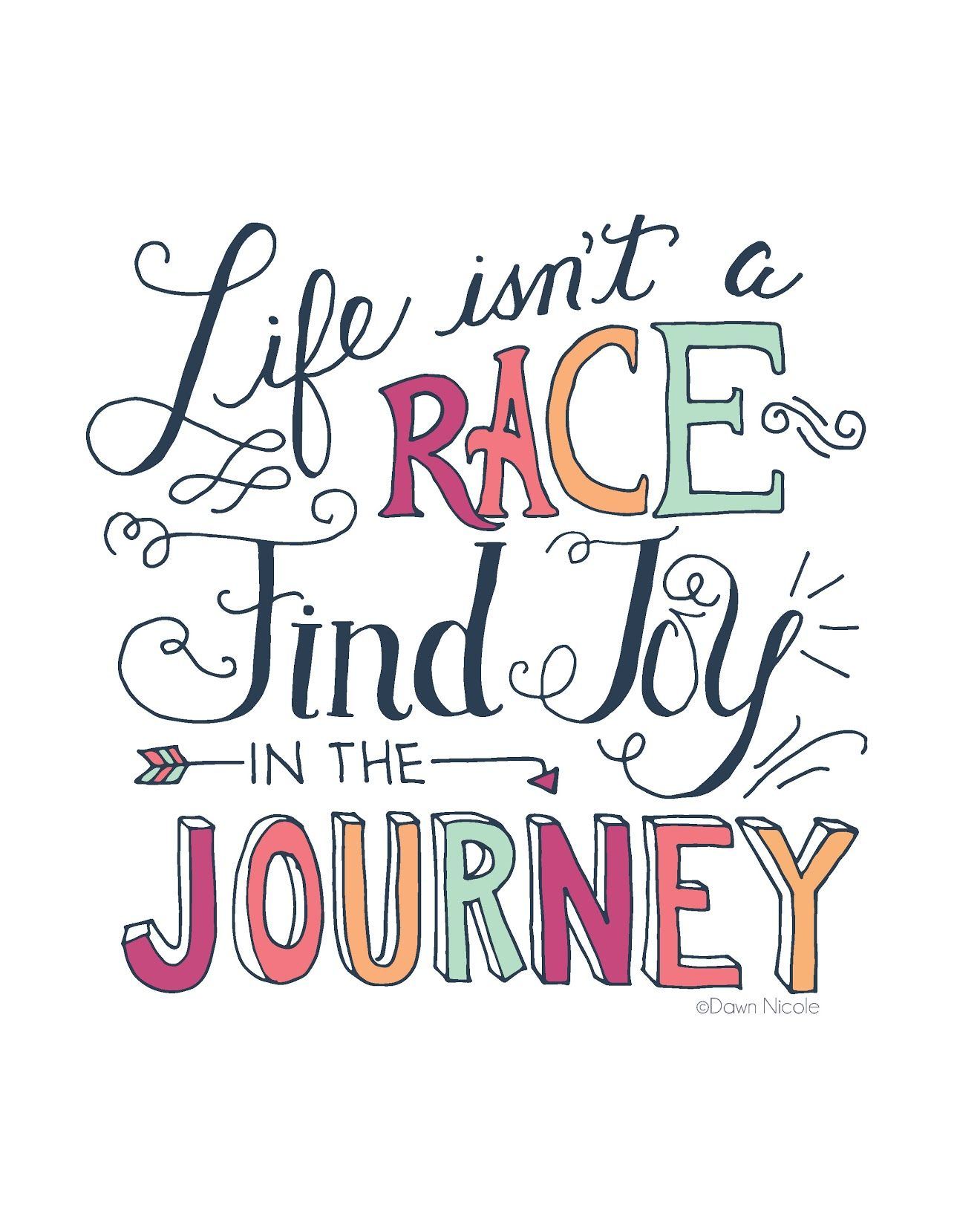 Life Isn't A Race...find JOY In The Journey ~