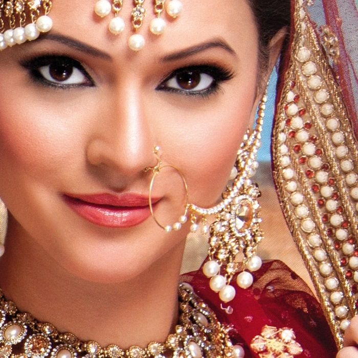 nath or nose rings for indian wedding jewellery https
