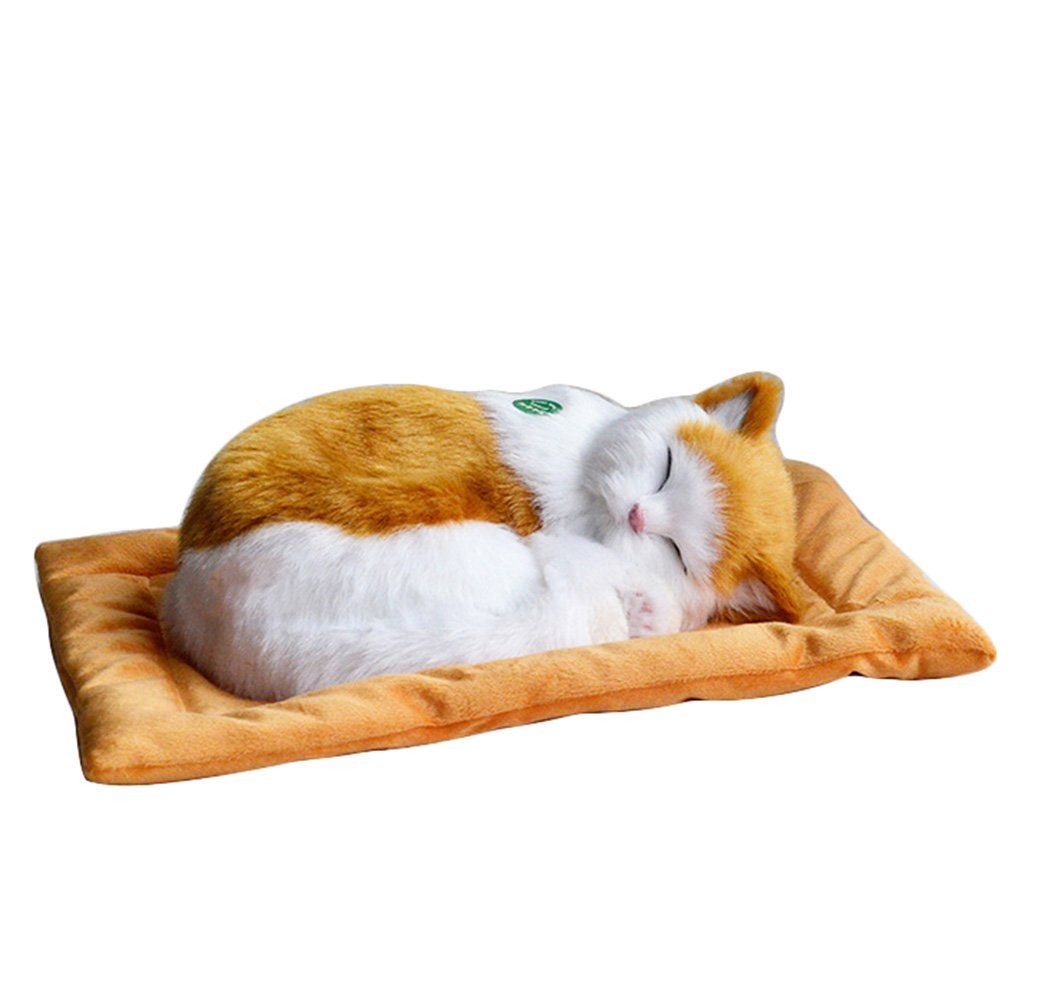 Huntiger Emulation Sleeping Breathing Cute Cat Toy With Snore Sound Pet For Kids Style1 Much More Info Might Be Found In 2020 Cat Toys Animals For Kids Kitten Toys