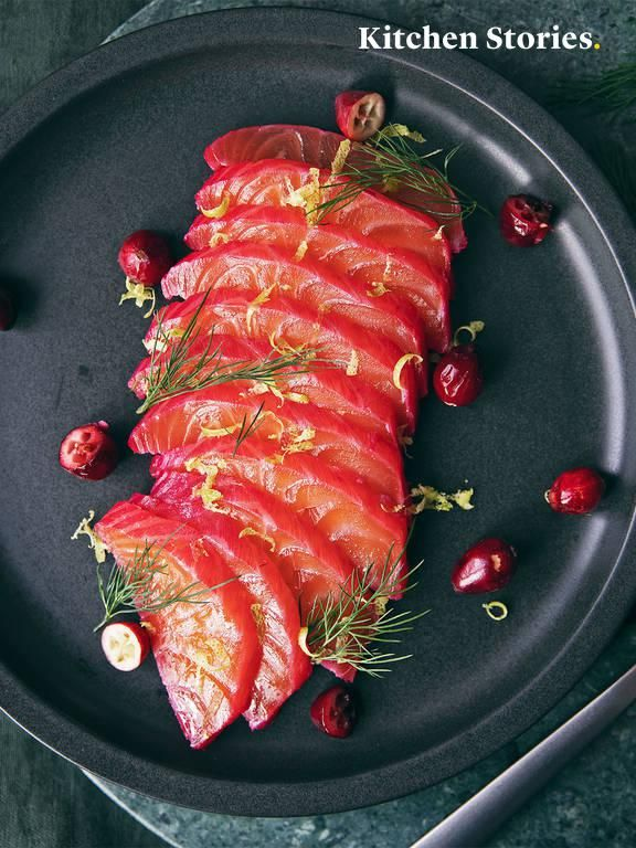 Photo of Pickled salmon with cranberries, gin and dill Recipe | Kitchen stories