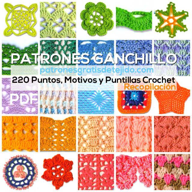 pdf con 220 patrones de puntos crochet para descargar gratis ...