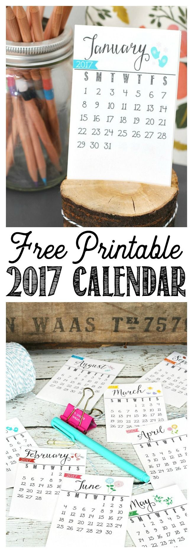 Free Printable 2017 Calendar  Free Office Calendar