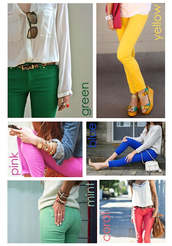 I'm rockin the colored jeans trend. So easy! Dresses up a plain shirt & flip flops- Done.