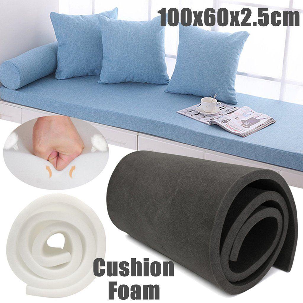 40x24x1 Inch High Density Foam Seat Cushion Replacement Upholstery Firm Sponge Mat Cushion Sheet Eco Friendly Sofa Foam Sofa Cushions On Sofa Memory Foam Sofa