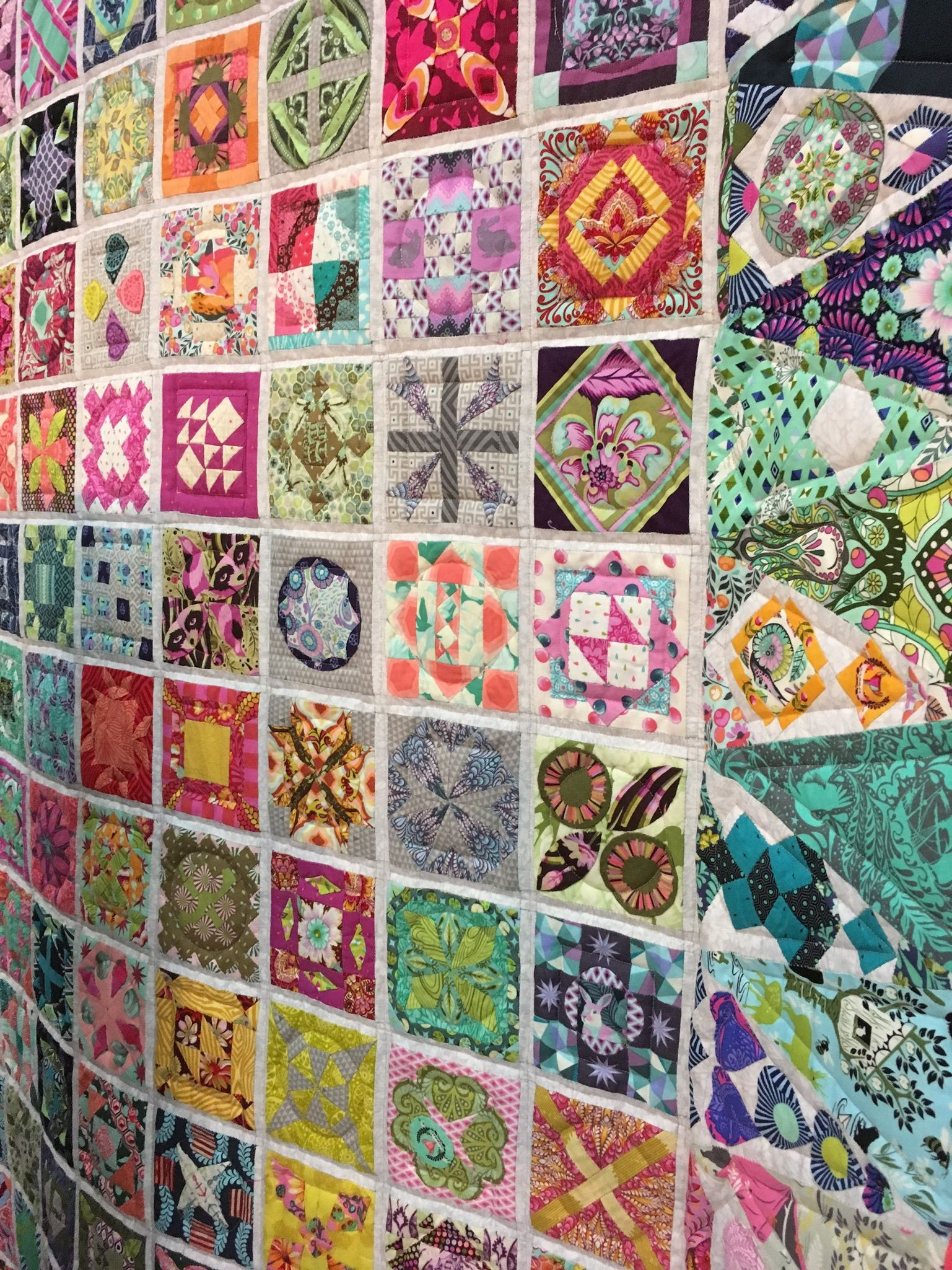 Dear Jane quilt by Paper Pieces from Tula Pink fabric , see: https ... : dear jane quilt pattern - Adamdwight.com