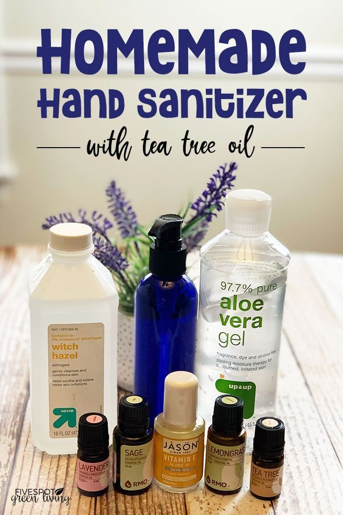 Homemade Hand Sanitizer With Alcohol Tea Tree Oil Hand
