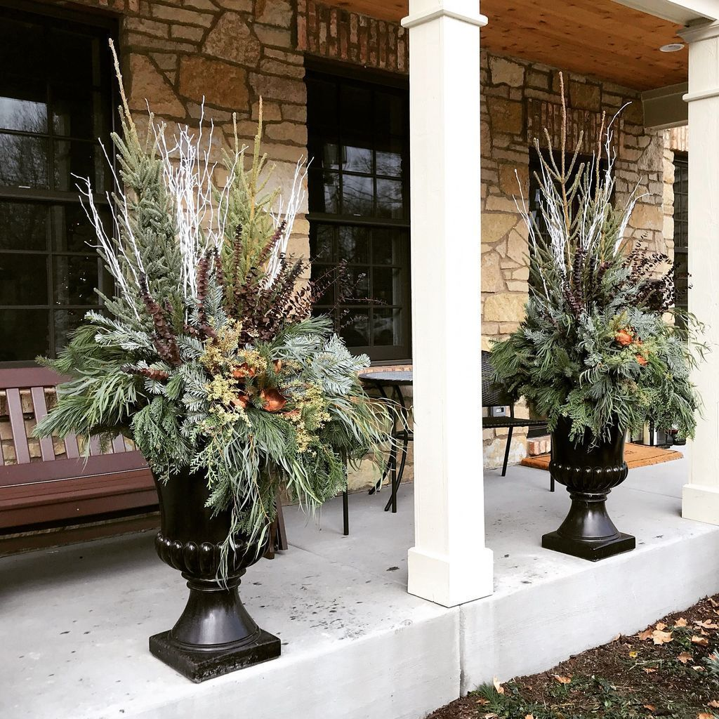 Front Yard Landscaping Ideas Wisconsin Blandscapingb Bb: 46 Perfect Outdoor Winter Planters Ideas