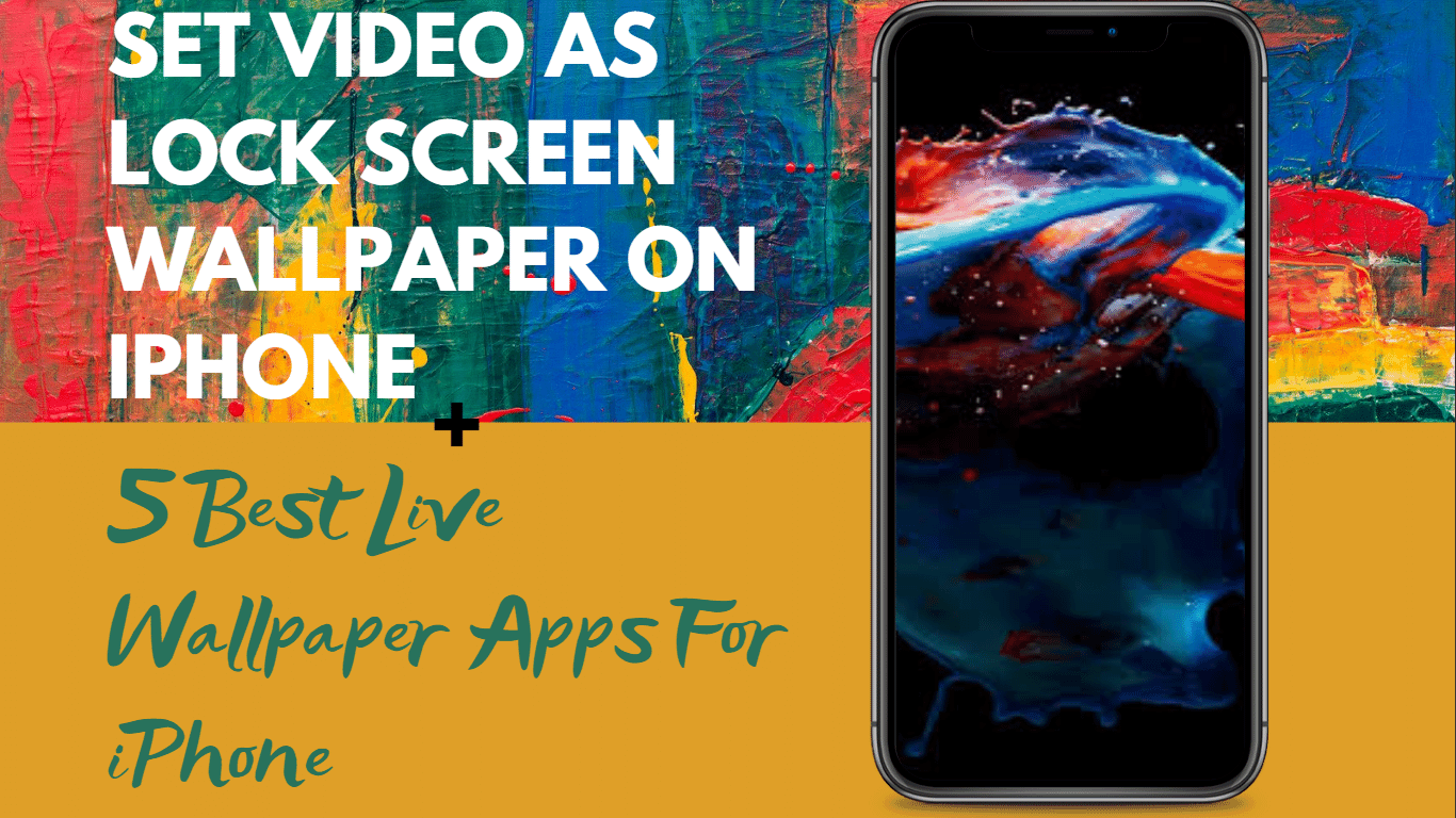 Simplest Method To Put Your Favorite Video As Lock Screen Wallpaper On Iphone All You Need In 2020 Lock Screen Wallpaper Iphone Screen Wallpaper Lock Screen Wallpaper