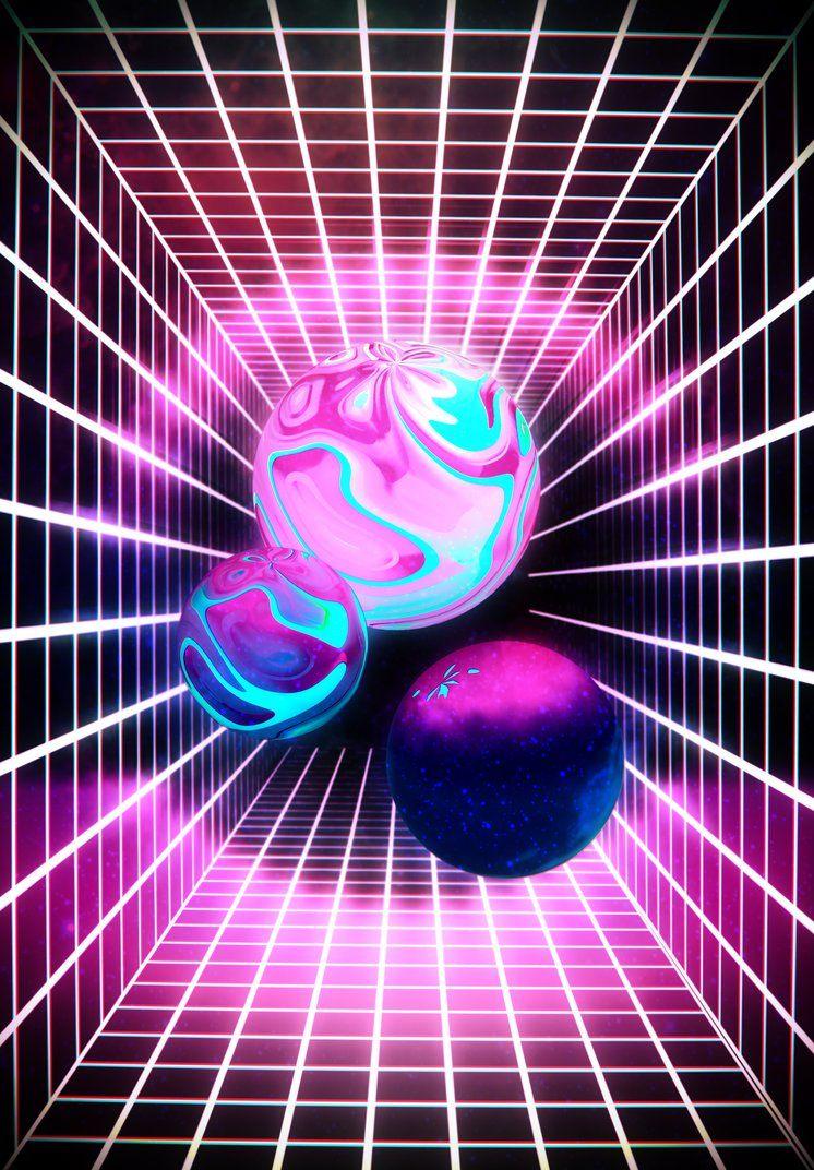 Synthwave art by Ododo-Neon | Synthwave in 2019 | Art, Light grid