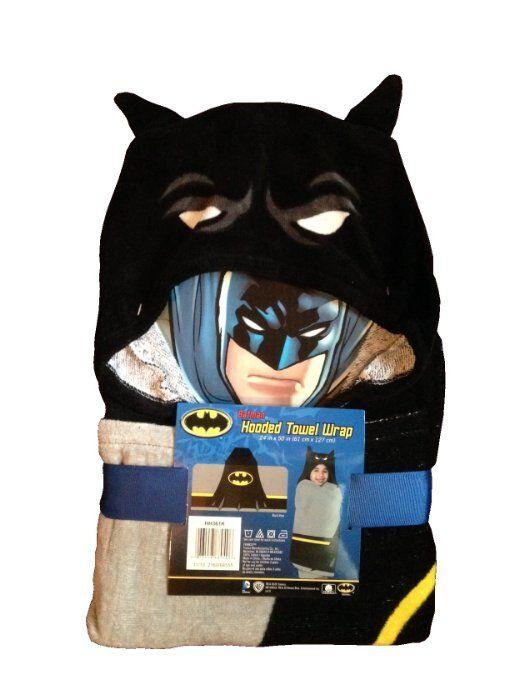 "Batman Hooded Towel Wrap / Poncho 24"" X 50"""